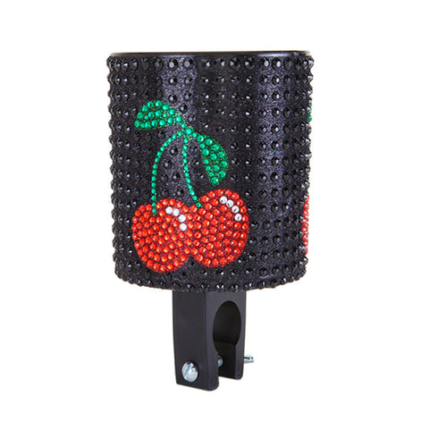 Cherry Rhinestone Cup Holder