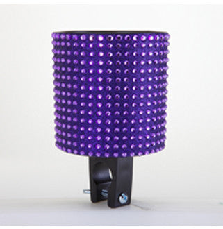 Purple Black Rhinestone Cup Holder
