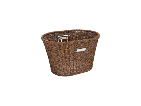Copy of Plastic Woven Basket Dark Brown      Available 10.24.20