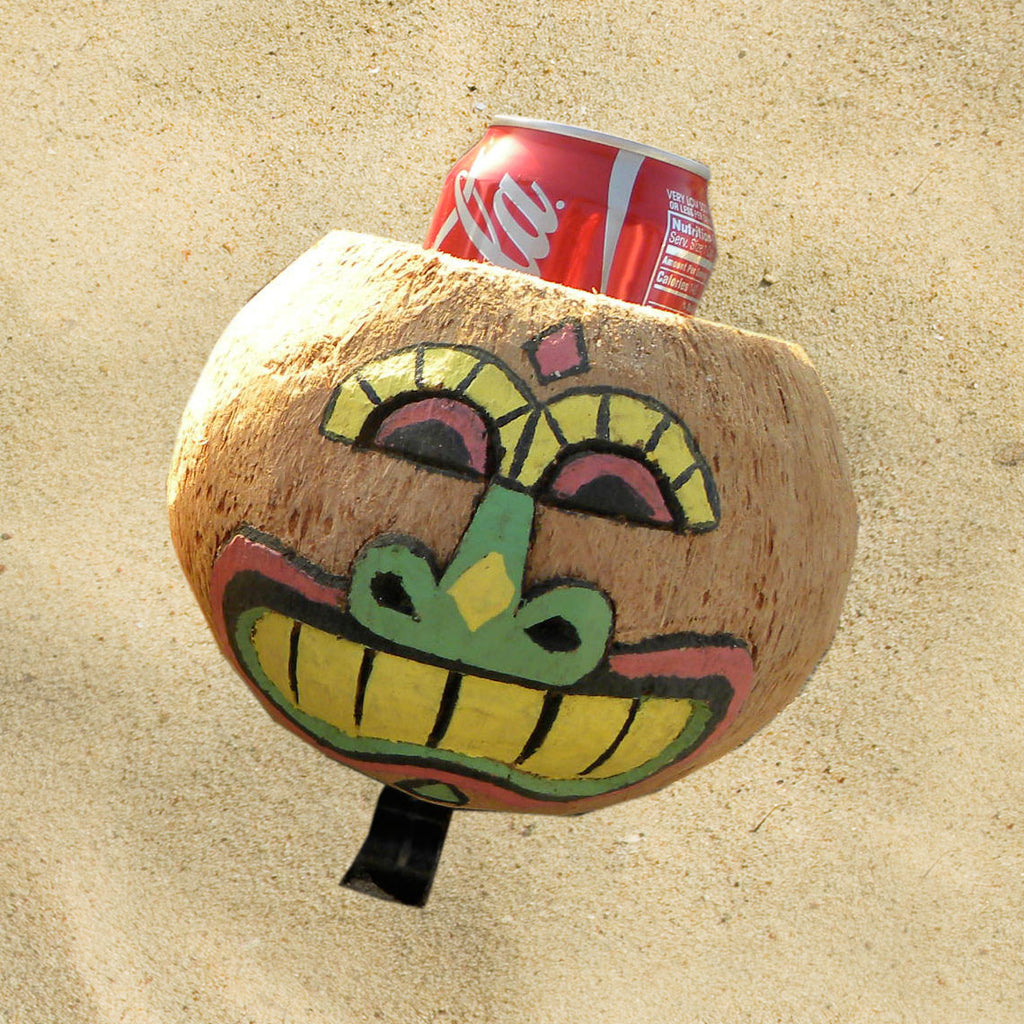 Coconut Cup Holder Glad Face