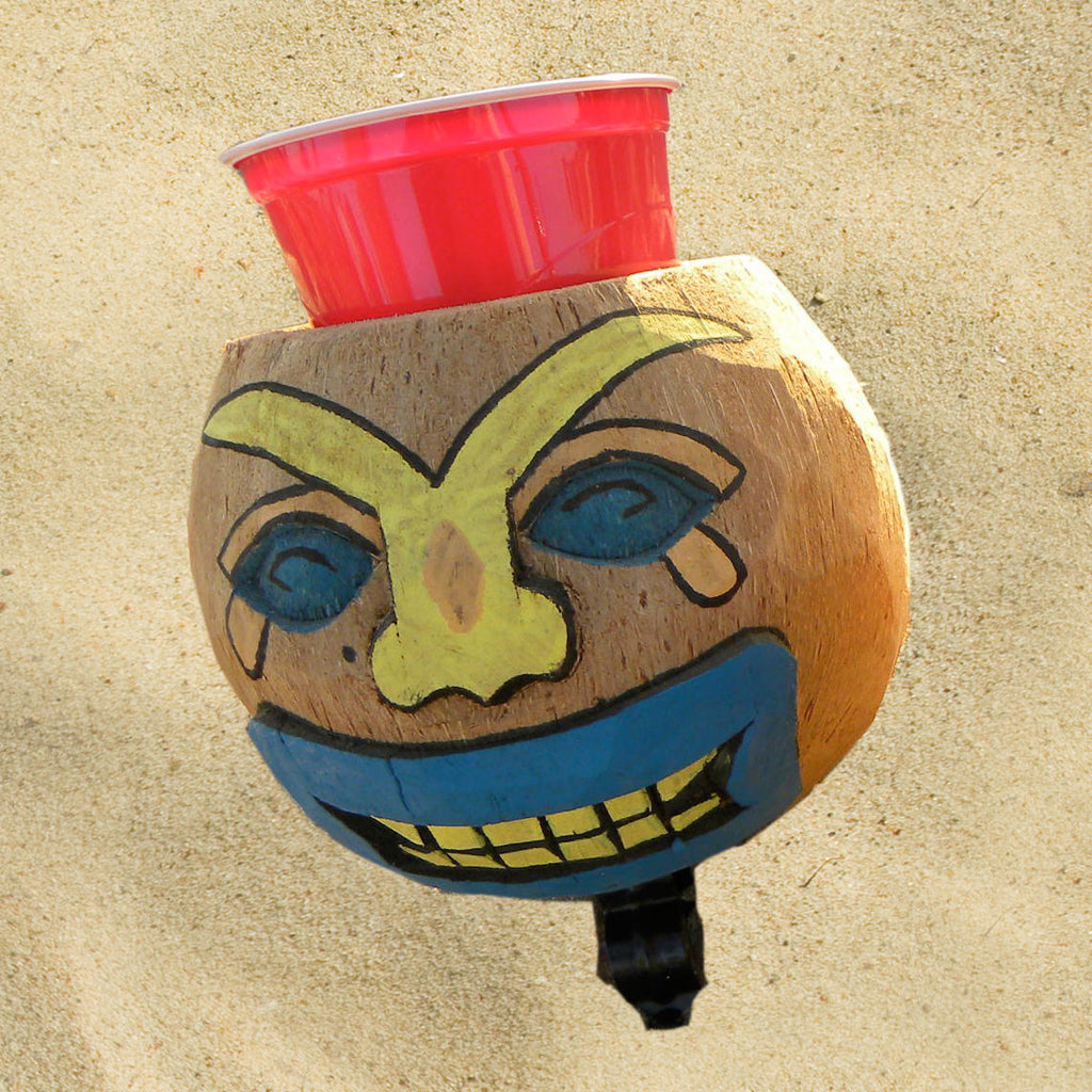 Coconut Cup Holder Sad Face - Newport Cruisers