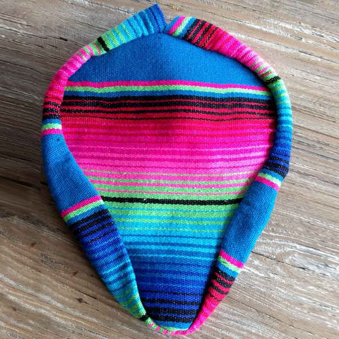 Mexican Blanket Seat Cover – Pink/Blue