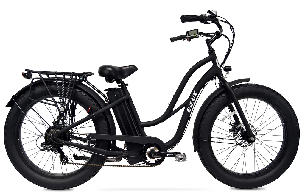 "Tahoe Classic Fat Tire  Step Thru/ Electric Bike With  Battery Upgrade to a 21 Amp. 70 Mile range in perfect conditions:)   "" Use your paypal credit/account and purchase interest free for 6 m"