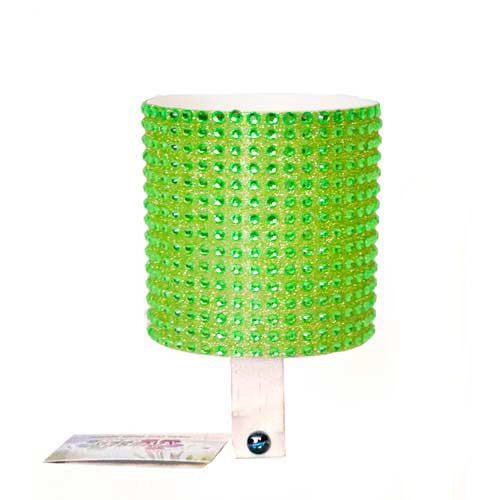 Green Rhinestone Cup Holder