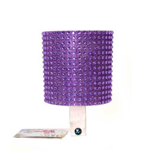 Purple Rhinestone Cup Holder