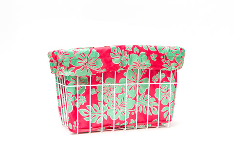 Coral Ray Hibiscus Basket Liner