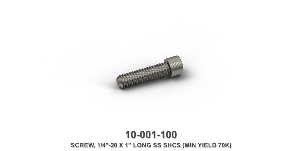 "1/4""-20 x 1"" Long Stainless Steel SHCS Screw"