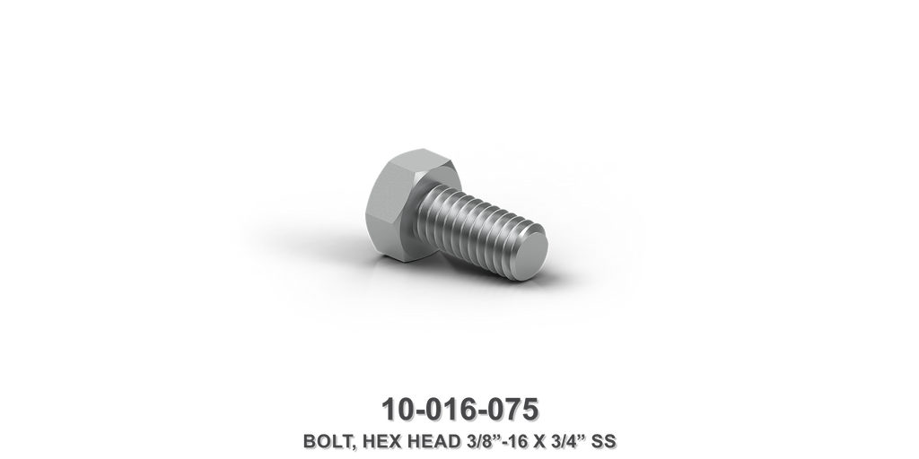 "Hex Head 3/8""-16 x 3/4"" Stainless Steel Bolt"