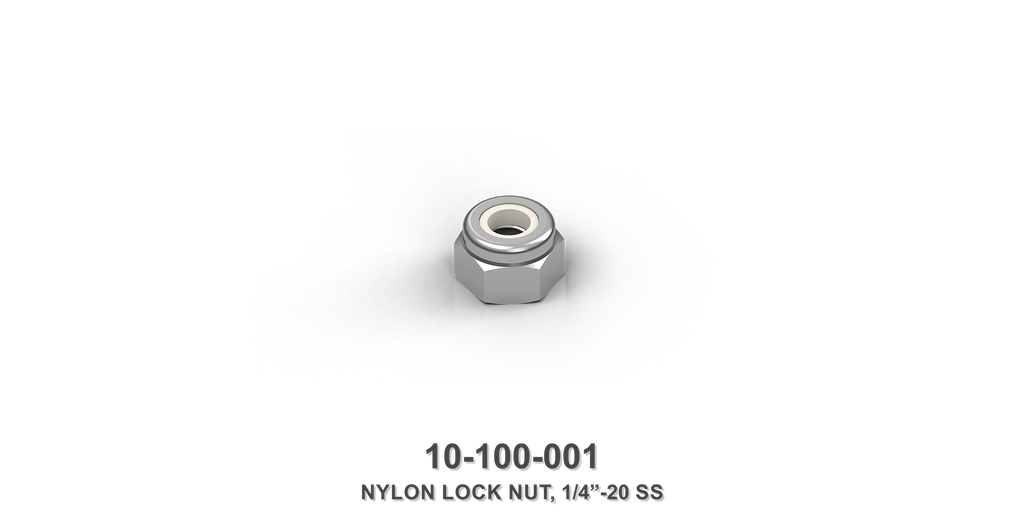 "1/4""-20 Stainless Steel Nylon Lock Nut"