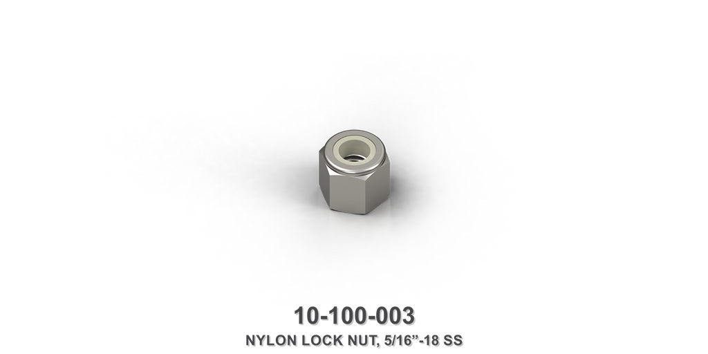 "5/16""-18 Stainless Steel Nylon Lock Nut"