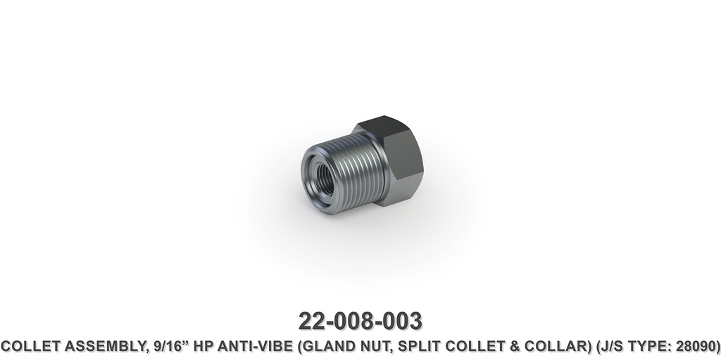 "9/16"" HP Anti-Vibe Collet Assembly"