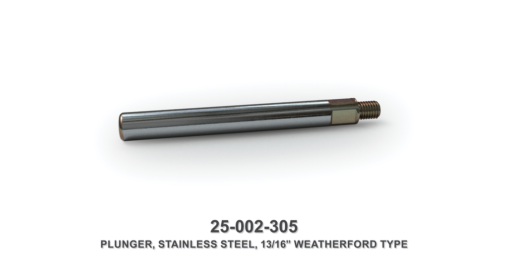 "13/16"" Stainless Steel Plunger - Weatherford Type"