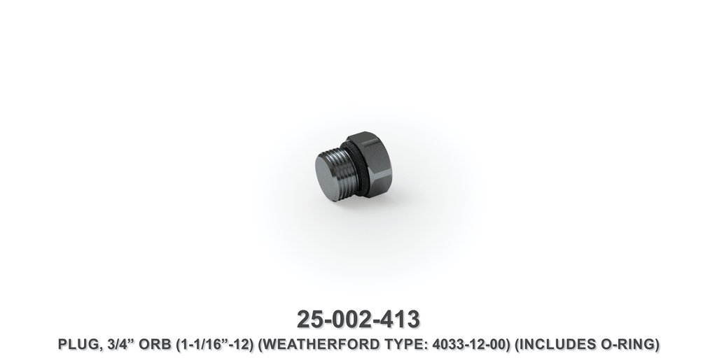 "3/4"" Orb Plug - Weatherford Type"