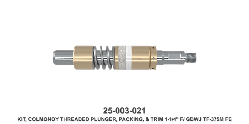 "15K 1-1/4"" TF-375M Colmonoy Threaded Plunger Kit - Gardner Denver / Butterworth Type"