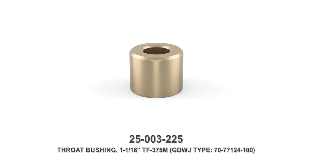 "1-1/16"" Throat Bushing - Gardner Denver / Butterworth Type"