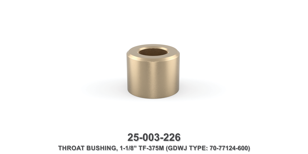 "15K 1-1/8"" TF-375M Throat Bushing - Gardner Denver / Butterworth Type"