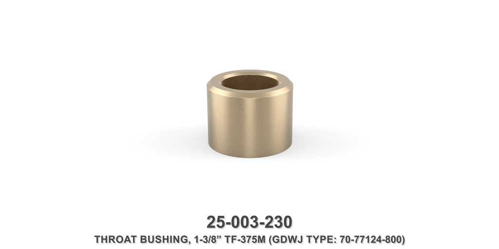 "15K 1-3/8"" TF-375M Throat Bushing - Gardner Denver / Butterworth Type"