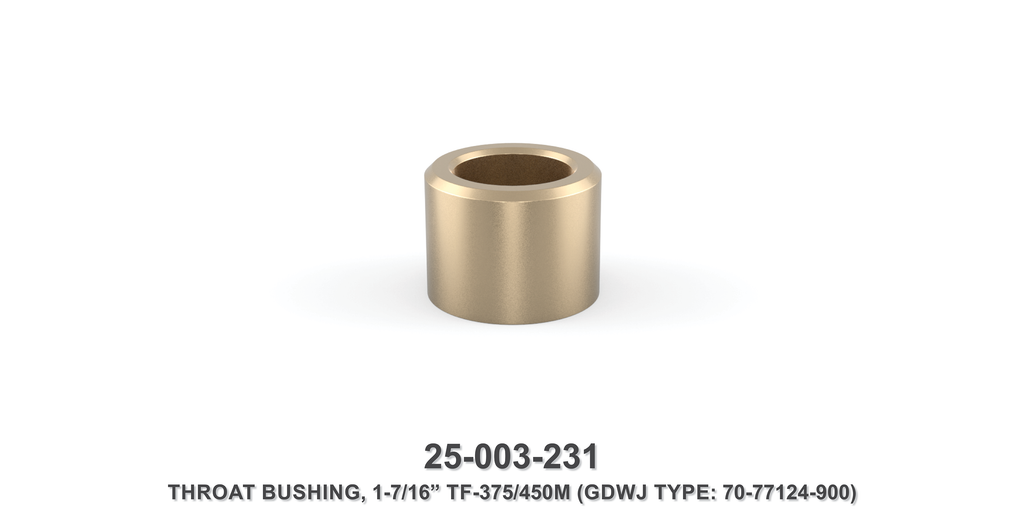 "15K 1-7/16"" TF-375M/450M Throat Bushing - Gardner Denver / Butterworth Type"