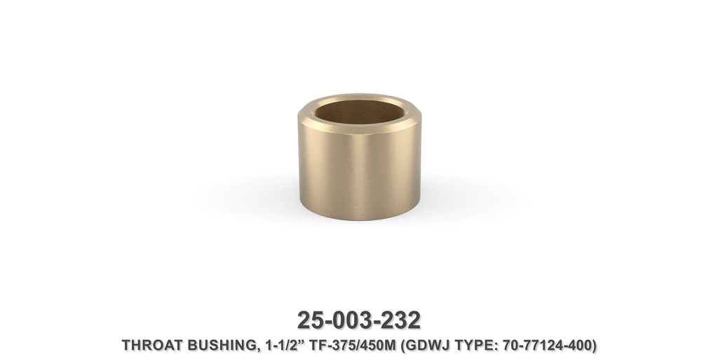 "15K 1-1/2"" TF-375M/450M Throat Bushing - Gardner Denver / Butterworth Type"