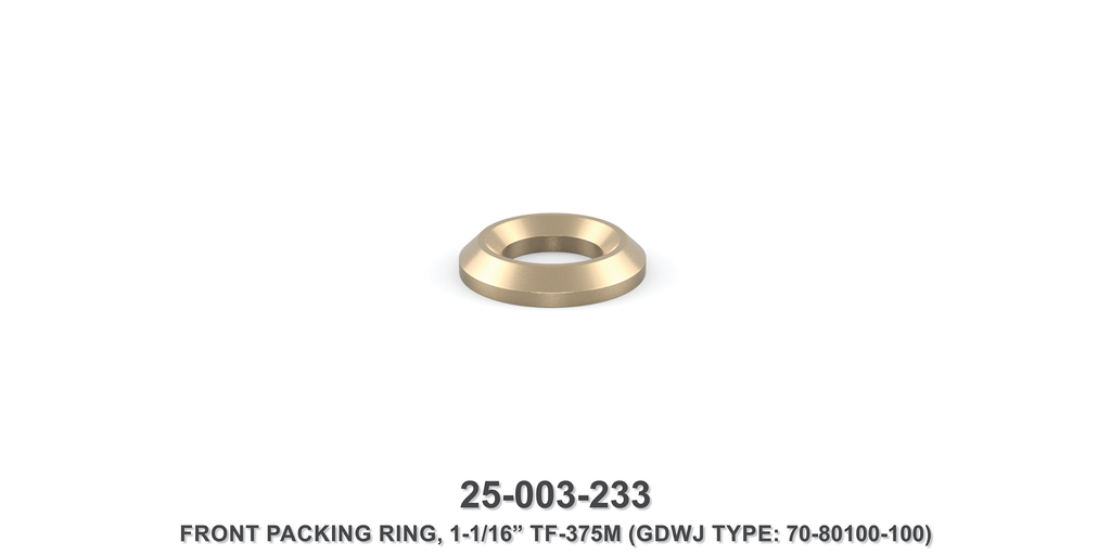 "1-1/16"" Front Packing Ring - Gardner Denver / Butterworth Type"