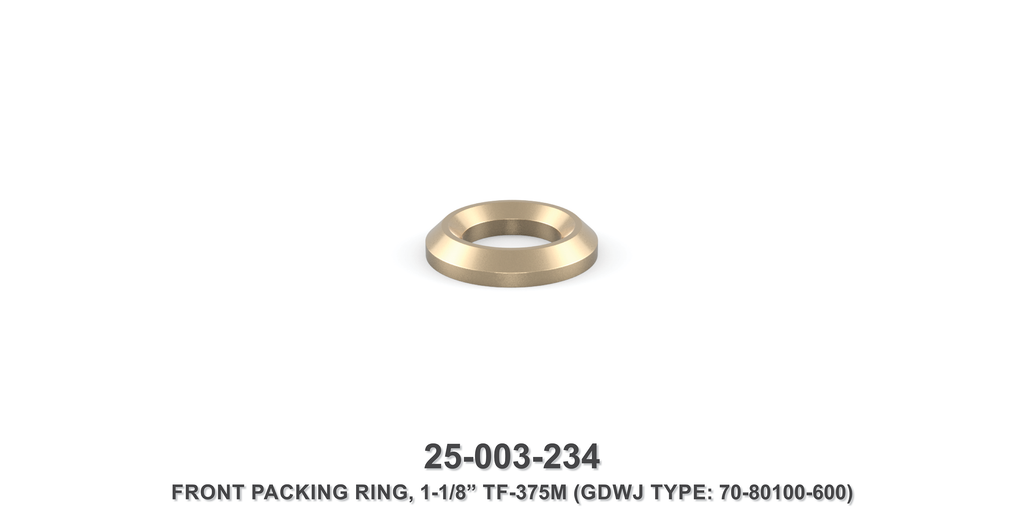 "15K 1-1/8"" TF-375M Front Packing Ring - Gardner Denver / Butterworth Type"