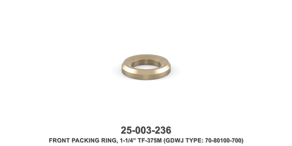 "15K 1-1/4"" TF-375M Front Packing Ring - Gardner Denver / Butterworth Type"