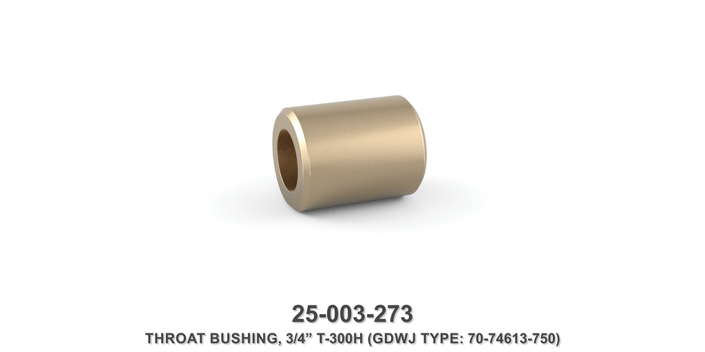 "3/4"" T-300H Throat Bushing - Gardner Denver / Butterworth Type"