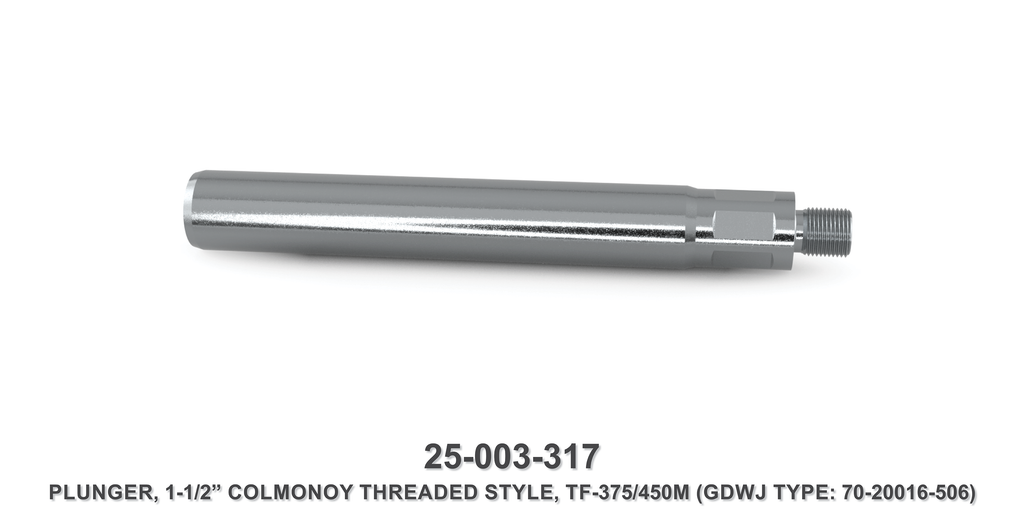 "15K 1-1/2"" TF-375M/450M Colmonoy Threaded Style Plunger - Gardner Denver / Butterworth Type"