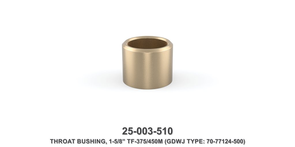 "15K 1-5/8"" TF-375M/450M Throat Bushing - Gardner Denver / Butterworth Type"