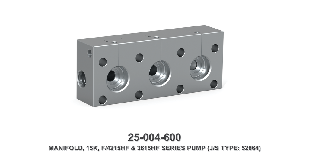 15K Manifold, F/4215HF & 3615HF Series Pump - Jetstream Type
