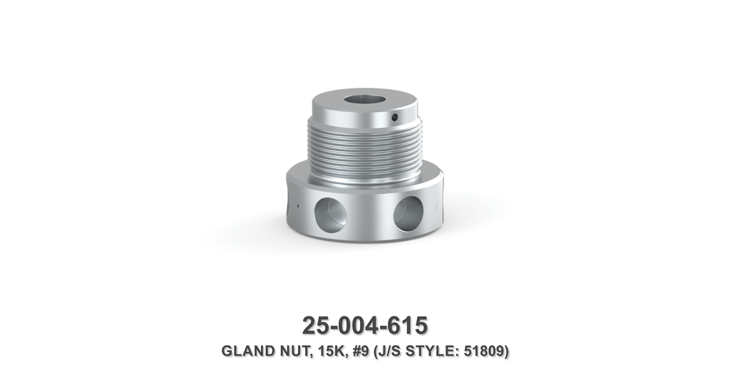15K Gland Nut - Size 9 Plunger - Jetstream Type