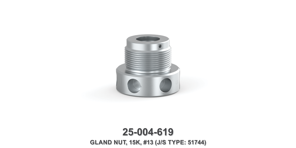 15K Gland Nut - Size 13 Plunger - Jetstream Type
