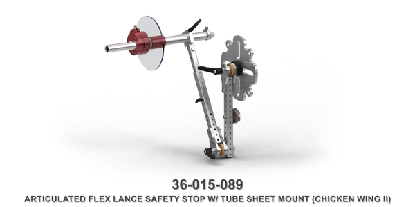 40K Articulated Flex Lance Safety Stop for Tube Sheet Mounting