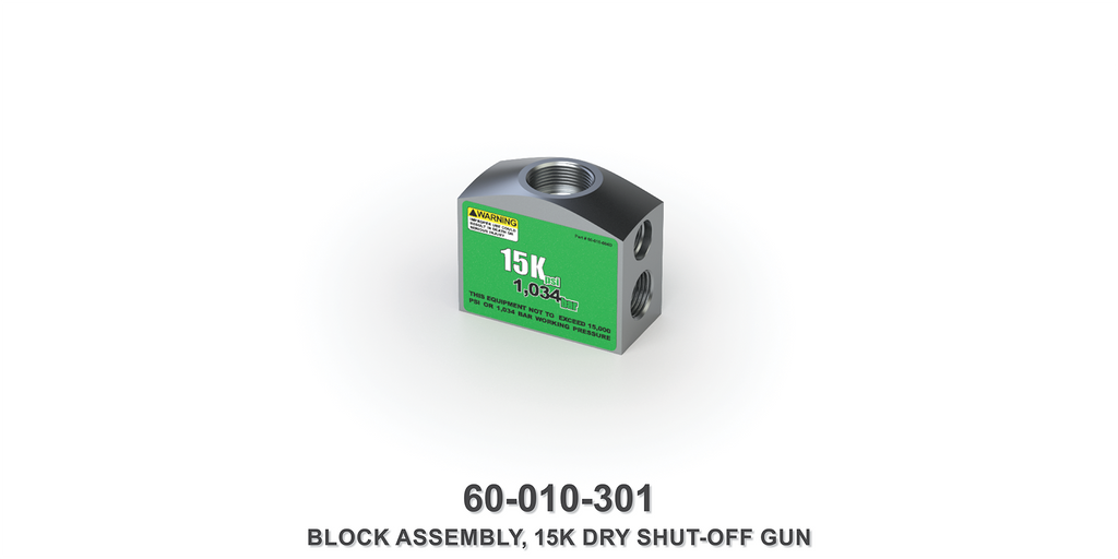 15K Dry Shut-Off Block Assembly
