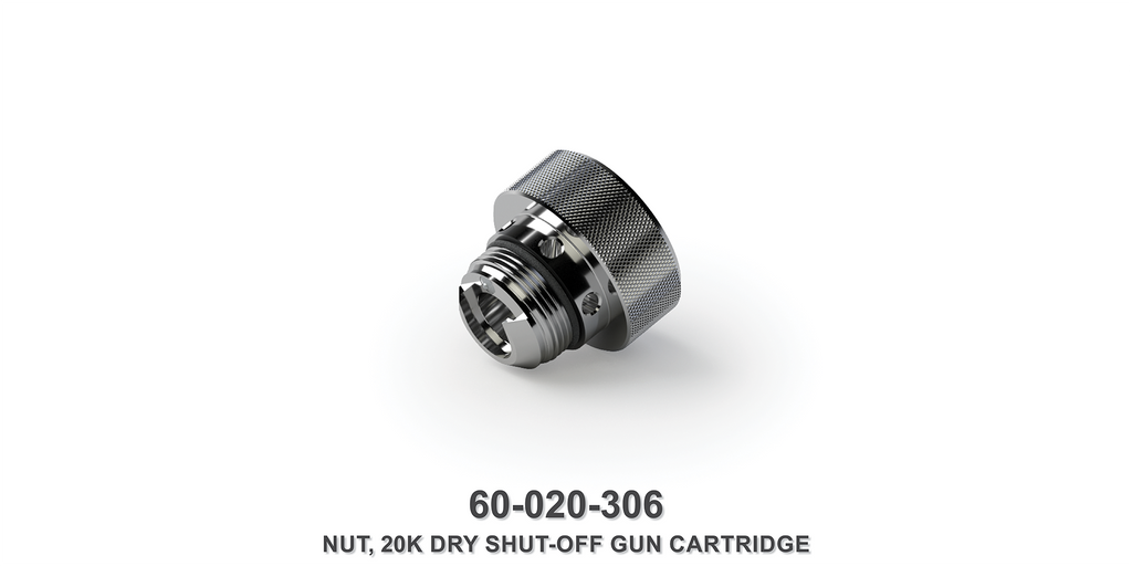 20K Dry Shut-Off Gun Cartridge Nut