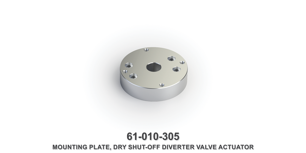 Dry Shut-Off Diverter Valve Actuator Mounting Plate