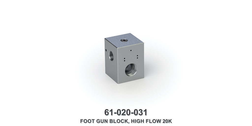 20-22K Machined High Flow Foot Gun Block