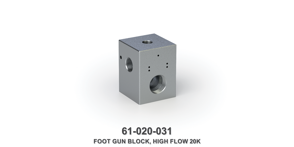 20K High Flow Foot Gun Block