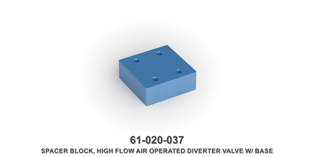 High Flow Air Operated Diverter Valve Spacer Block