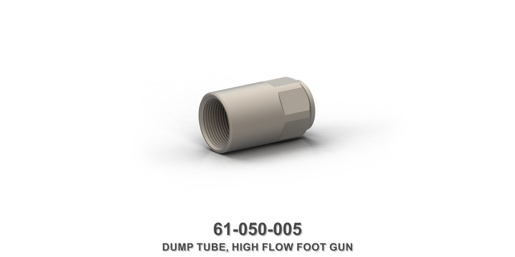 High Flow Foot Gun Dump Tube