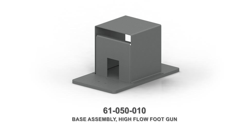 High Flow Foot Gun Base Assembly