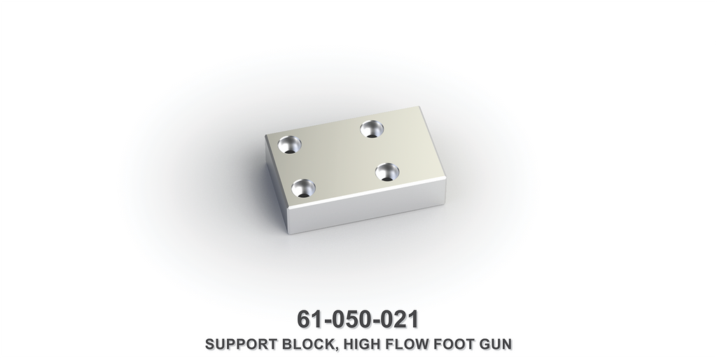 High Flow Foot Gun Support Block
