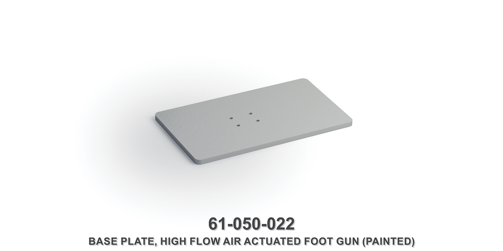 High Flow Air Actuated Foot Gun Base Plate (Painted)