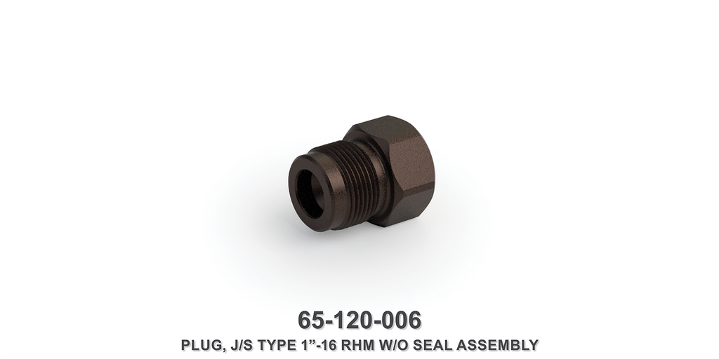 "1""-16 RHM Plug Assembly without Seal"