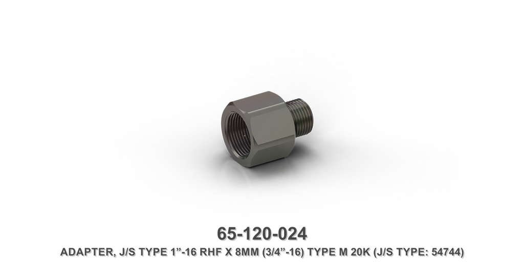 "20K 1""-16 RHF x 3/4""-16 Type M Adapter Assembly"
