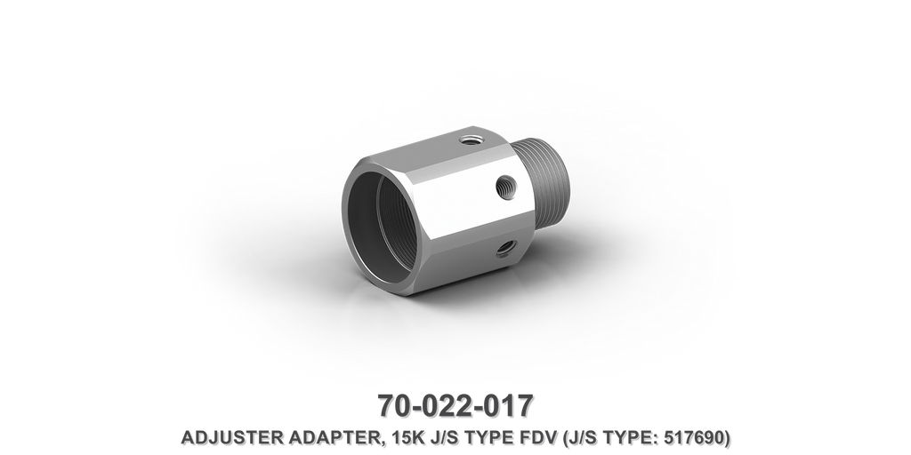 15K Flow Divider Valve Adjuster Adapter