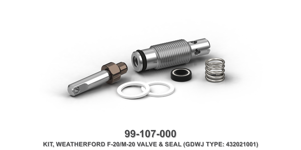 Weatherford F-20/M-20 Valve and Seal Kit