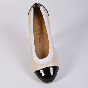 Malibu Jane comfortable ballet flats Beverly Hills Cream/Black
