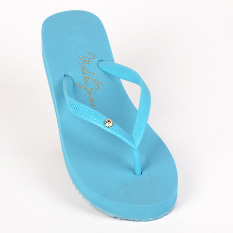 Hollywood Flip Flop with Crystal in Turquoise