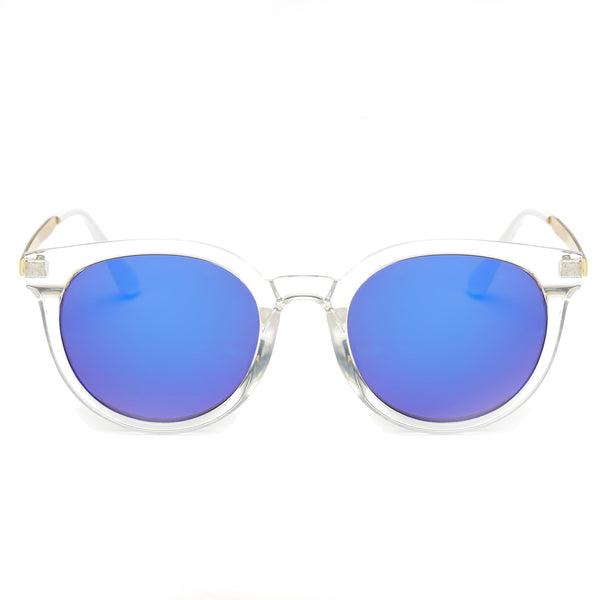 IBIZA CAT-EYE SUNGLASS CLEAR WITH MIRROR